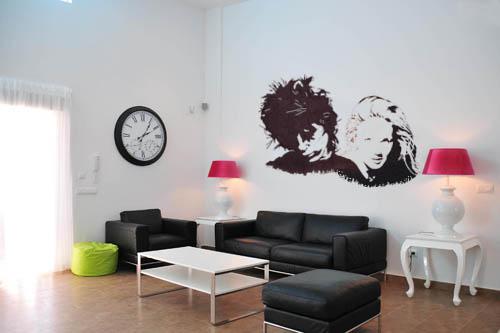 Awesome Muurtekeningen Woonkamer Gallery - Moderne huis 2018 ...